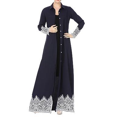 Damen Muslim Abaya kleider für Frauen islamischen Kleidung ...