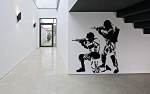 Wall Room Decor Art Vinyl Sticker Mural Decal Soldiers Warriors Military Poster Army Shooter Sniper AS2564