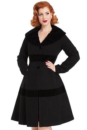 Vêtements Noirblanc Voodoo Vixen Noir Femme Manteau v67fX