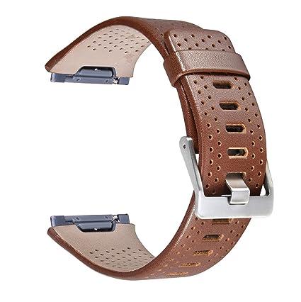 Amazon.com: Para Fitbit Ionic Watch Band, torotop Piel ...