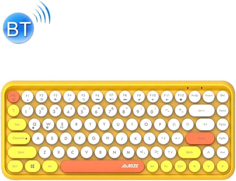 308I 84 Keys Tablet Mobile Phone Computer Household Office Bluetooth Keyboard Color : Grey