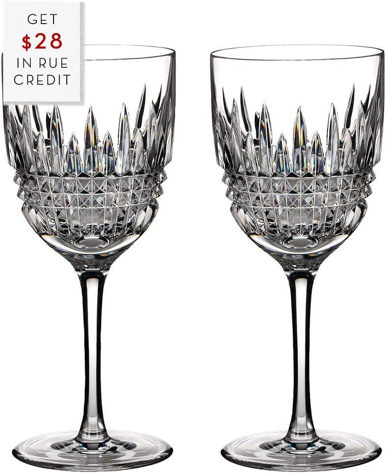 WATERFORD LISMORE DIAMOND Red wine pair