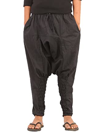 d7ee1f644 Amazon.com: The Harem Studio Kids Harem Cotton Drop Crotch Pants (L ...