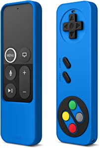 elago R4 Retro Apple TV Remote Case Compatible with Apple TV Siri Remote 4K 5th / 4th Generation - Classic Controller Design [Non-Functional], Extra Protection, Lanyard Included (Blue)