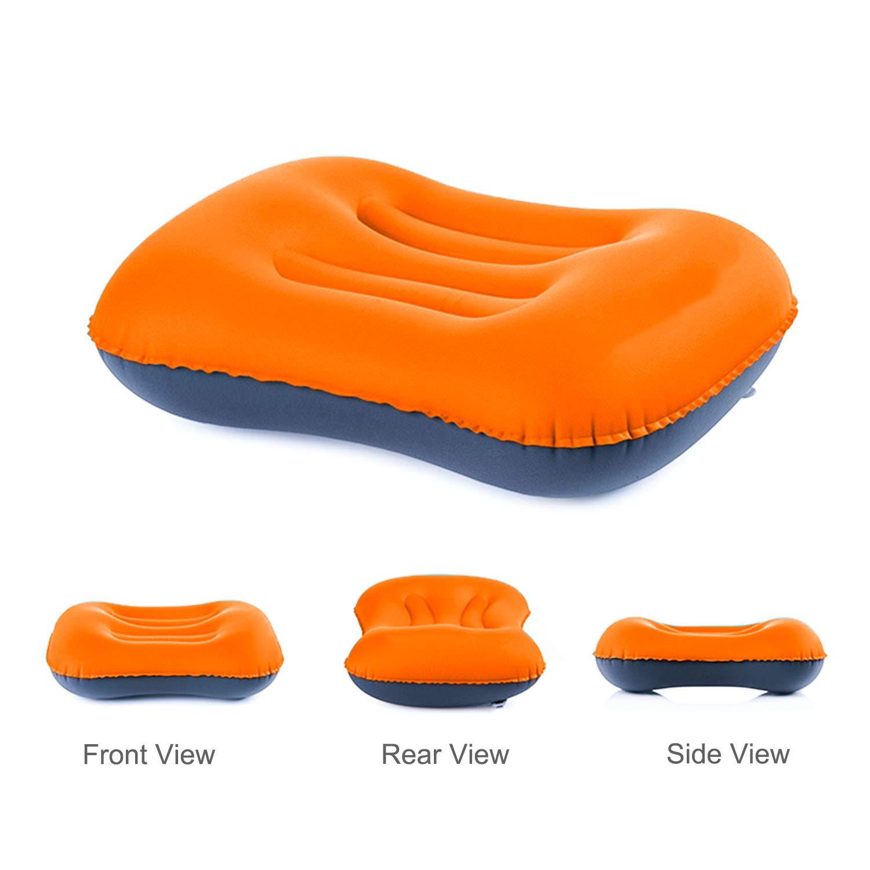 coj/ín de aire para recostar la cabeza 2/x almohadas inflables para viajar en el coche. para que la lleves al camping la playa Almohada inflable