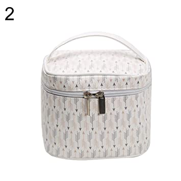 93bfb54e7bda Amazon.com : gainvictorlf Makeup Organizer Pouch Women Stripe Dot ...
