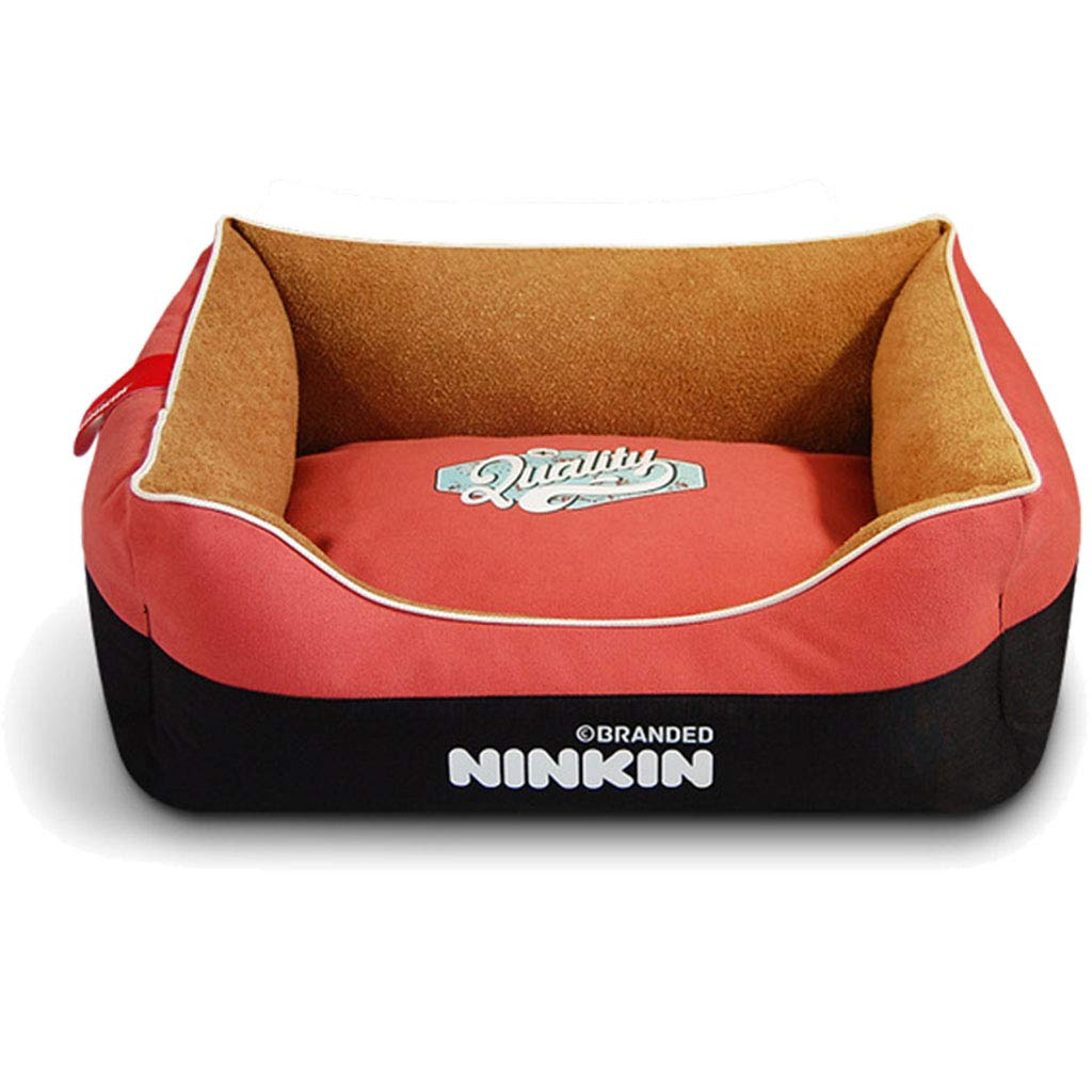 RED 35×45cm RED 35×45cm PLDDY pet bed Pet Bed for Cats Dogs,Soft Comfy Cat Dog Bed with Removable Cushion,Small & Medium & Large,Warm Luxury (color   RED, Size   35×45cm)