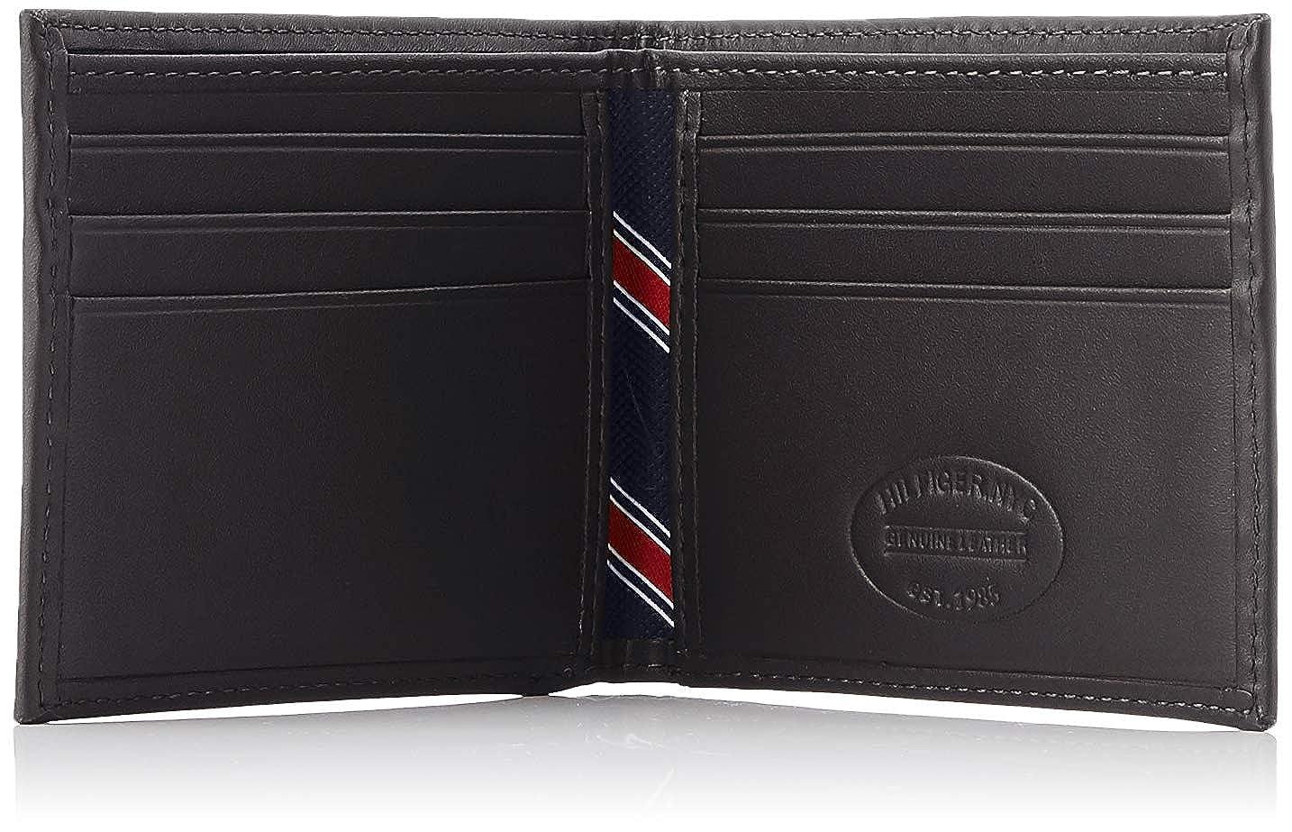 Tommy Hilfiger Leather Billfold Mens Wallet Black