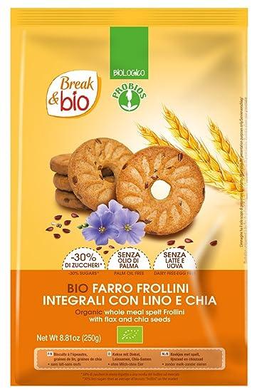 Probios Break&Bio Galletas con Espelta, con Semillas de Lino y Chia - 10 paquetes