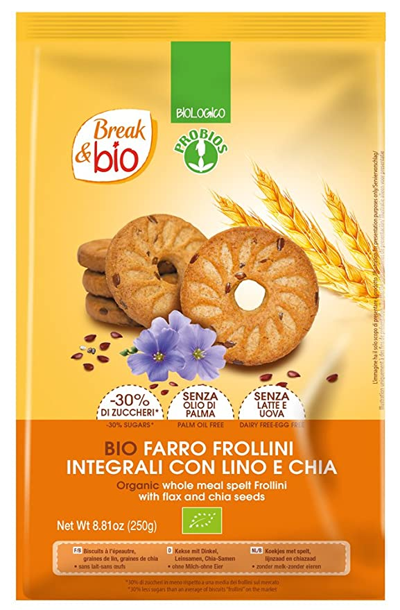 Probios Break&Bio Galletas con Espelta, con Semillas de Lino ...