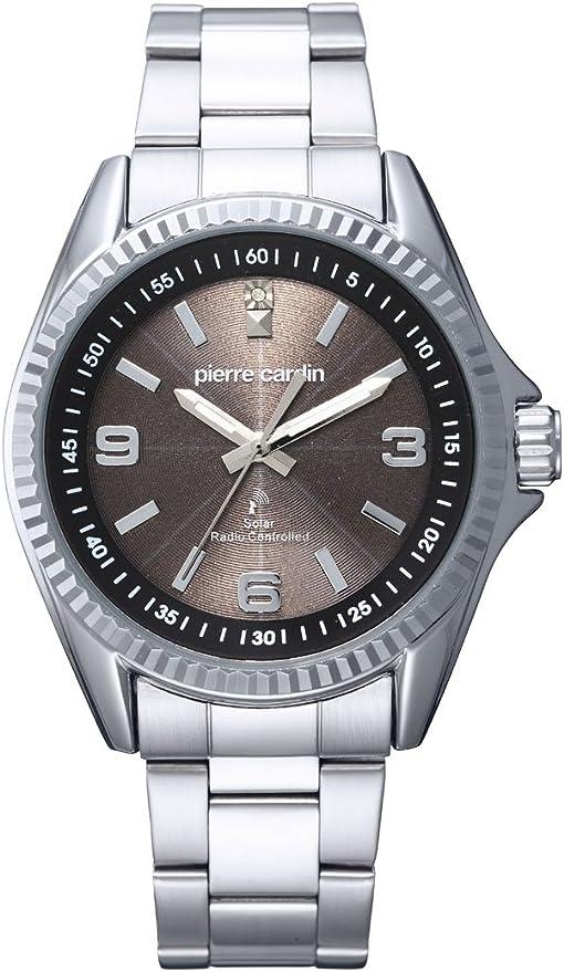[ピエールカルダン]pierre cardin 天然ダイヤモンド1石ソーラー電波 腕時計 PC-790