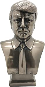 PTC US President Donald J Trump Cold Cast Bronze Bust 7.5 Inches Tall Collectible Figurine