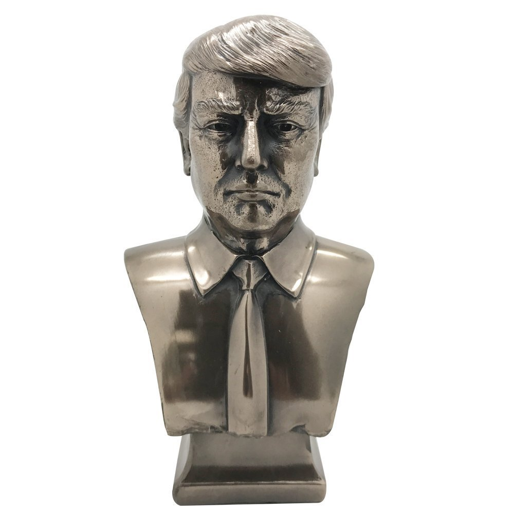 Amazon.com: US President Donald J Trump Cold Cast Bronze Bust 7.5 Inches  Tall Collectible Figurine: Home & Kitchen