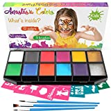 Anastasia Colors Professional Face Paint – Washable Child and Adults Kits, Sensitive Hypoallergenic Skin Painting Kit, Face Paints Supplies for The Best Kids Party, Costume Makeup Cosplay with Brushes