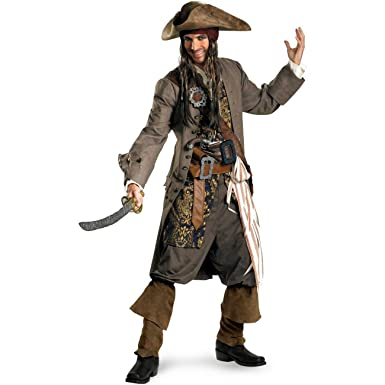 Delightful Captain Jack Sparrow Theatrical Adult Costume   XX Large