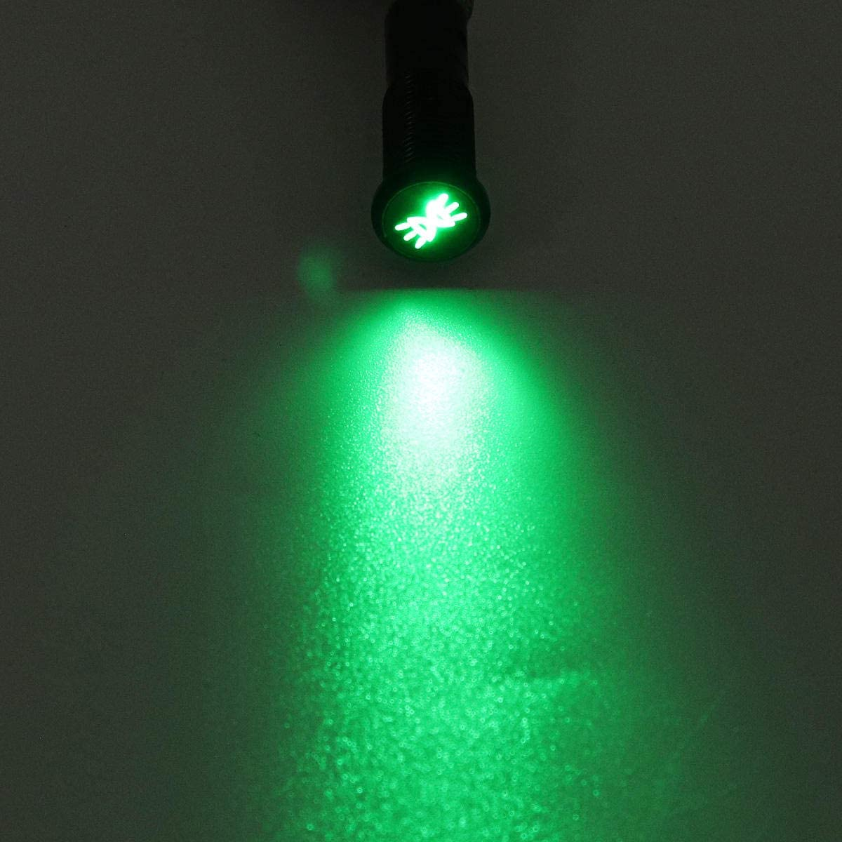 RENCALO 12//24//36V 12MM LED Dashboard Warning Signal Light Van Dash Panel Indicator Lamp-012