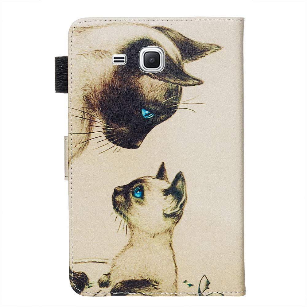 2016 XTstore /Étui pour Samsung Galaxy Tab A 7.0 T280//T285 Smart Cover Case Housse Coque de Protection avec Support Fonction et Porte Carte pour Samsung Tab A6 7.0 Licorne