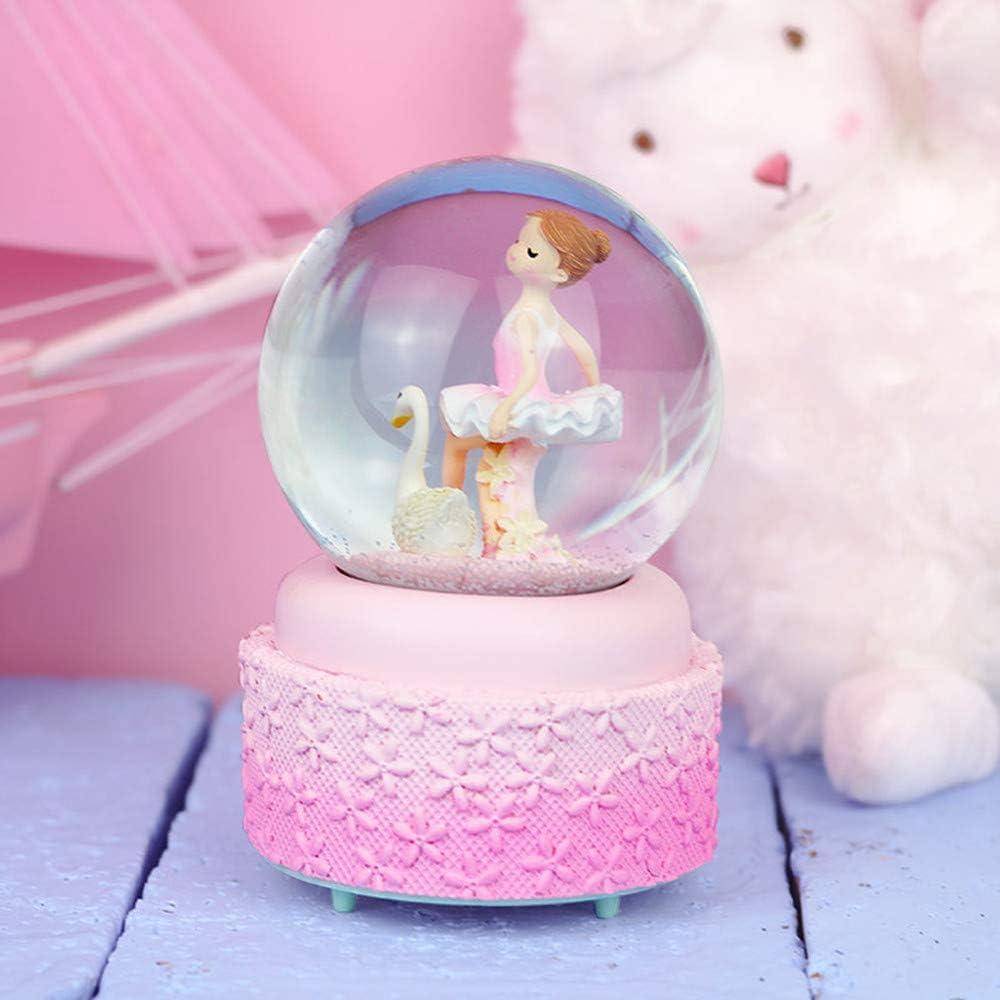KinkGlass Boules /à Neige Musicale A# Boule de Verre Decorative Bo/îte /à Musique Boule de Cristal Cadeaux pour Valentines Day