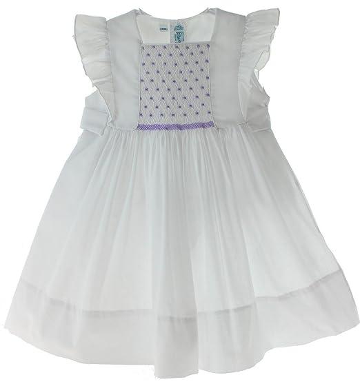 e9cfd0c5d Amazon.com  Feltman Brothers Girls White Sleeveless Dress Lavender ...