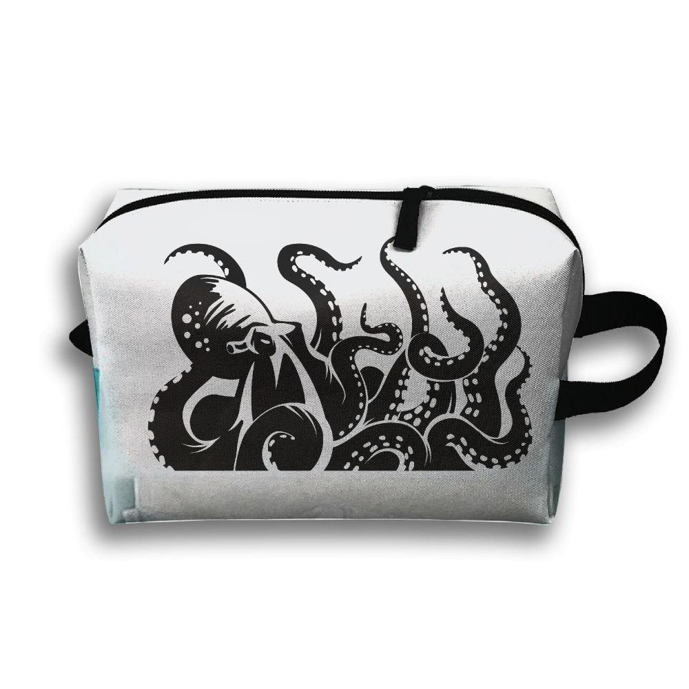 ゲスト部屋Decorated with Octopus Small Travel Toiletry Bagスーパーライトトイレタリーオーガナイザー一泊旅行用バッグ B07B9W9KV2