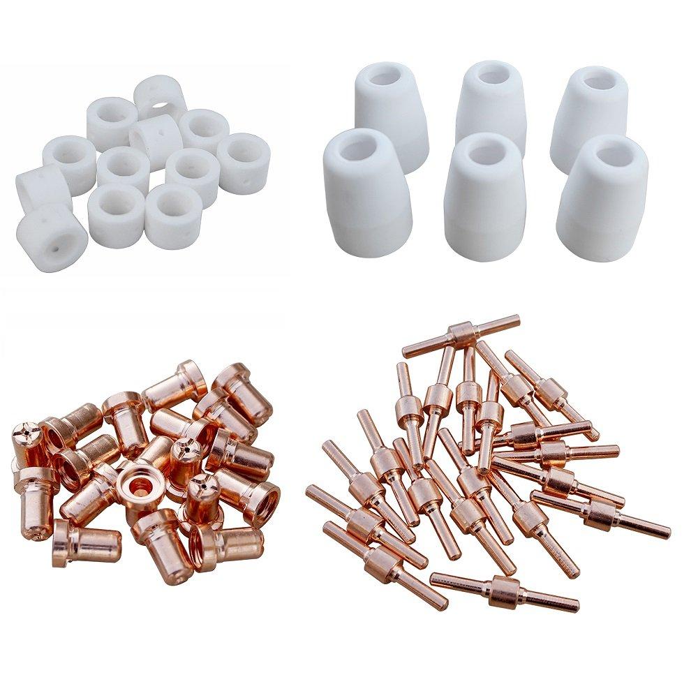 Fisters 58pcs Hafnium short tip electrode CT520D LT5000D 50R 40R 5000D 5200DX