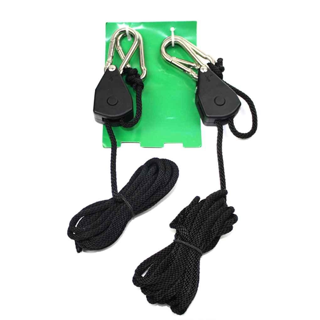 Morza 2PCS Corde à cliquet Heavy Duty Se développent légère Hanger Corde Grandir Tente Jardinage intérieur Crochets réglables Outils Hanging