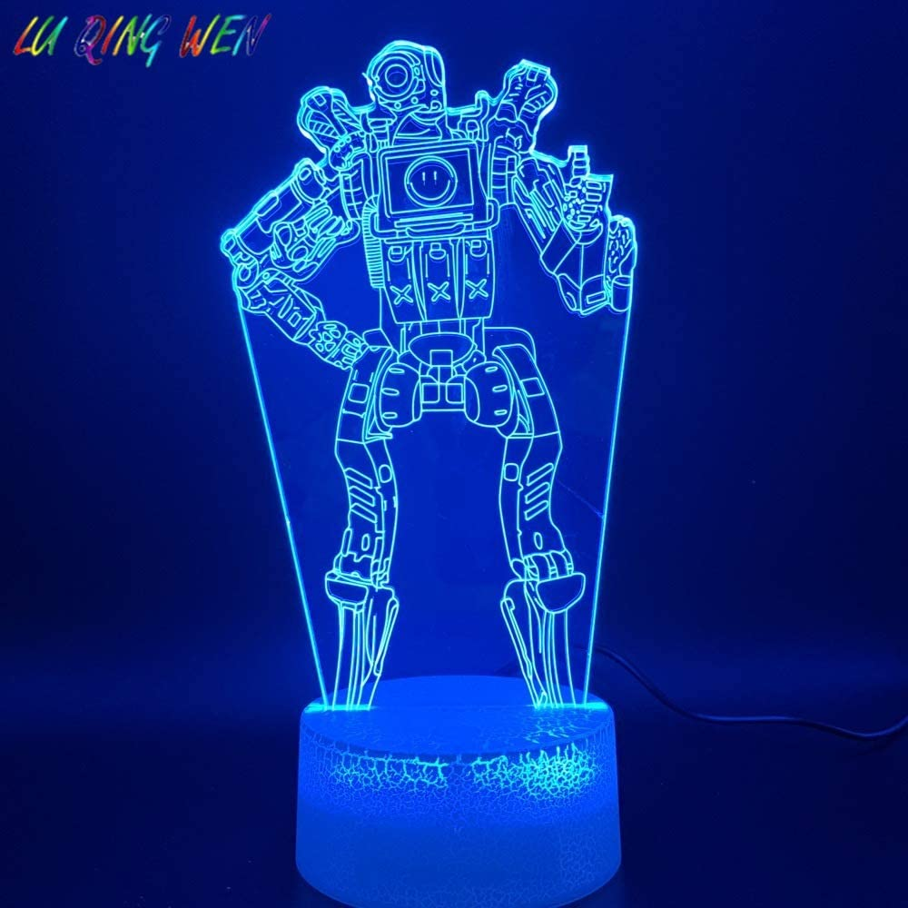 Magiclux 3D Optical Illusion LED Night Light 16 Colors Changeable with Remote Control Kids Bedroom Decoration Desk Lamp MY745-Pathfinder Creative Lighting Gifts for Kids and APEX Legends Fans