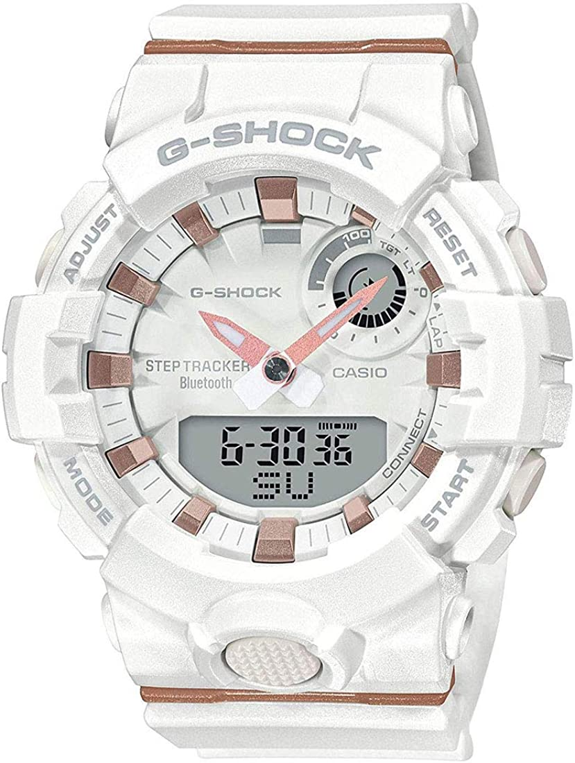 Ladies Casio G-Shock S-Series G-Squad Connected White Resin Watch GMA-B800-7A