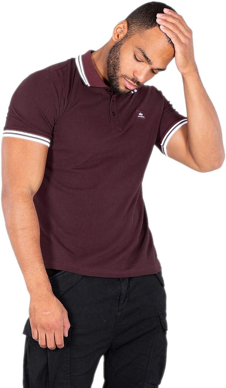 ALPHA INDUSTRIES Twn STRP Camisa de Polo Rayas Gemelas para Hombre