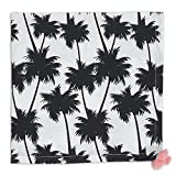 Design Imports Pineapple and Palms Table Linens, 20-Inch by 20-Inch Napkins, Set of 4, Palm Paradise Printed