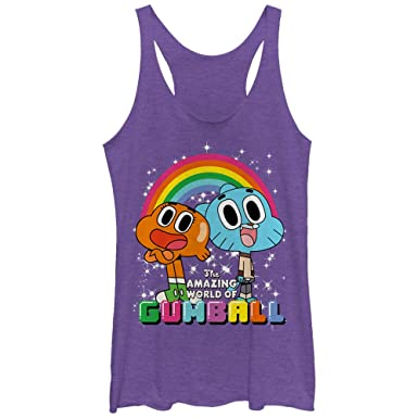 amazon com the amazing world of gumball women\u0027s darwin rainbow