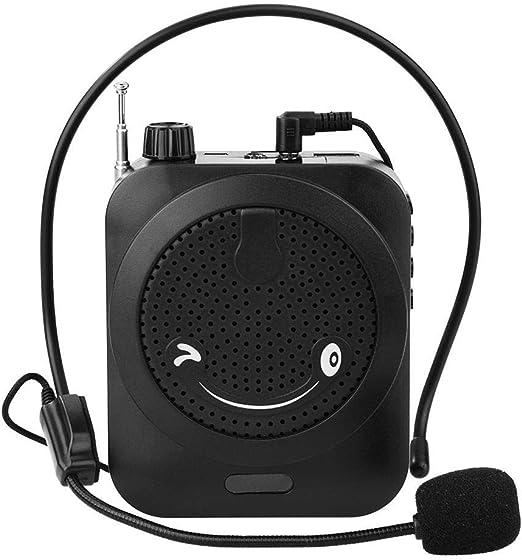 Atten Amplificador de Voz portátil Recargable con Cable del micrófono Auricular Amplificadores Personal for Profesores de Canto formación de Entrenadores Guía Gira presentación: Amazon.es: Hogar