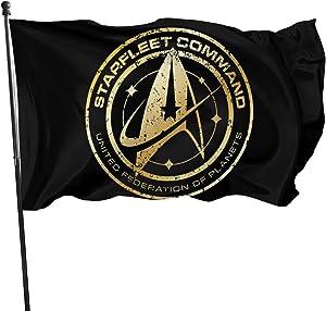 CaMoloMaC Star Trek 3x5 Foot Us Flag - Vivid Color and Uv Fade Resistant