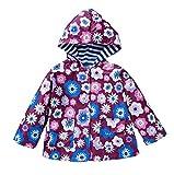 LZH Kids Girls Jacket Waterproof Outwear Raincoat Hoodies