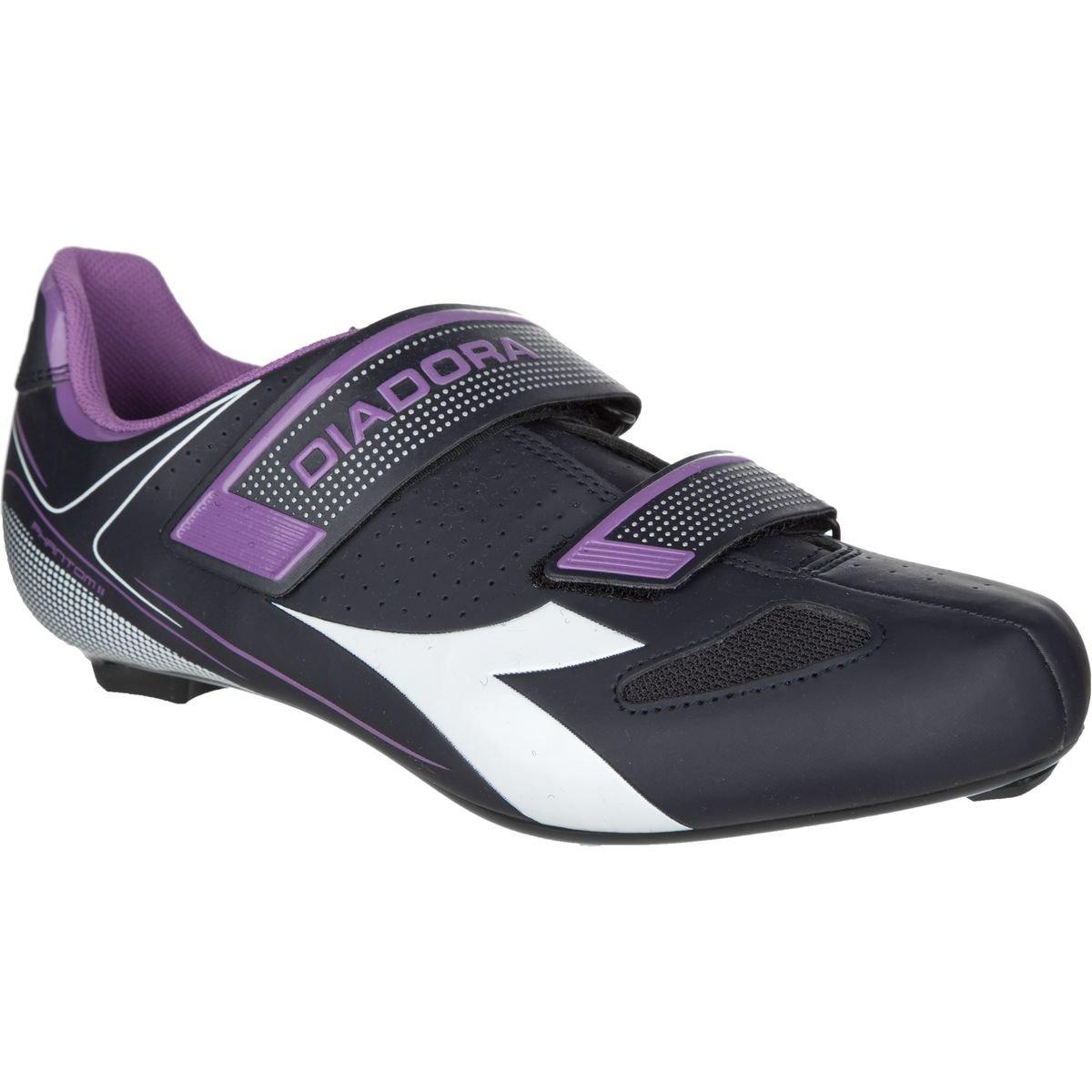 Diadora Phantom II Cycling Shoes - Women's Dk Smoke/White/Violet Orchid Iris, 40.0