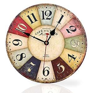 Soledi reloj de pared de cuarzo estilo toscano vintage - Relojes pared cocina ...