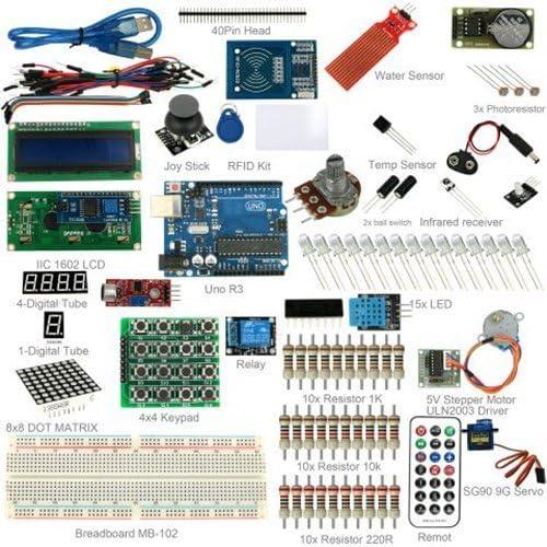 Kit Arduino UNO R3 Starter Kit con RFID LCD1602 Servo Motor y Todos los sensores de Fotos: Amazon.es: Informática