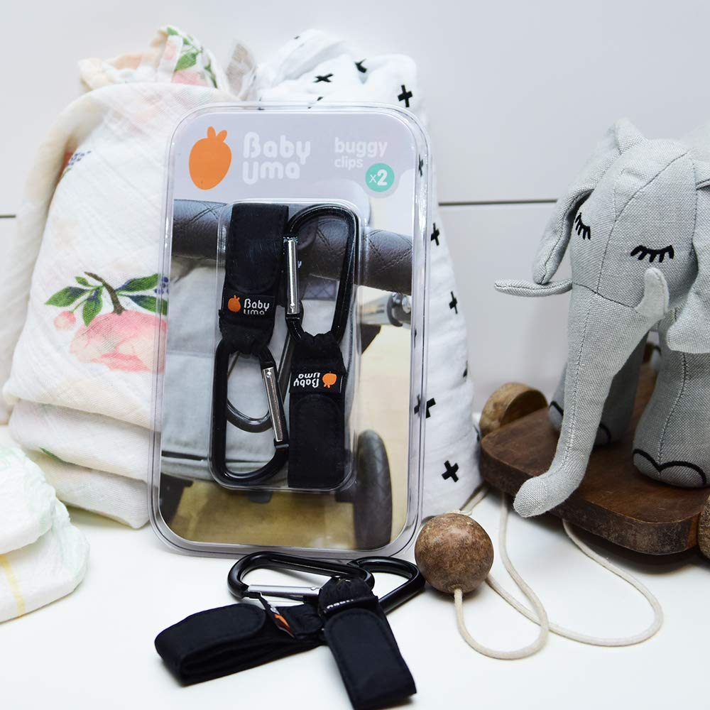 Pack de 2 Baby Uma Cochecito o Silla de Ruedas Ganchos Carrito Beb/é bolso o cambiador en el manillar de la Sillita Ajuste Universal Engancha tus bolsas de la compra