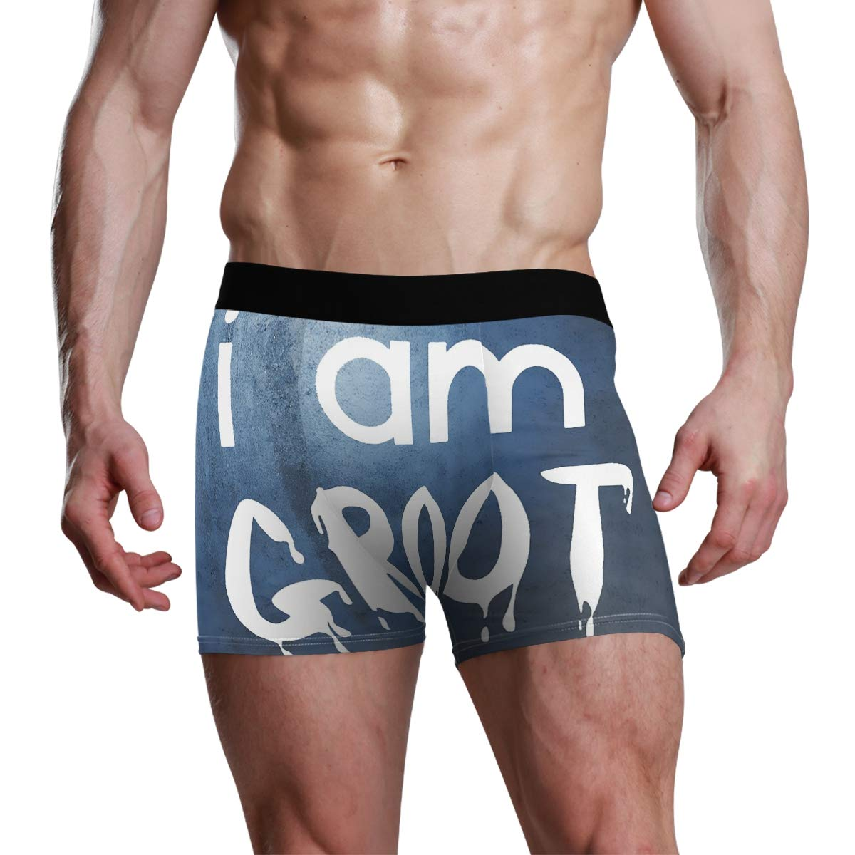 I Am Groot Mens Boxer Briefs Underwear Comfortable Breathable Tagless Short Leg Boxers Brief