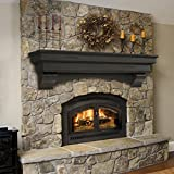 72 inch fireplace mantel shelf - Pearl Mantels 497-72-20 Celeste Mantel Shelf, 72-Inch, Espresso Finish