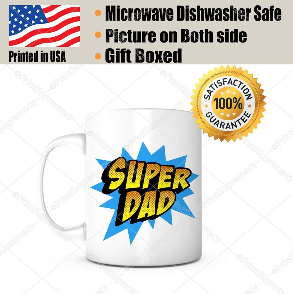 Super Dad Fathers Day Gift Mug Ideas Funny Coffee Mug Quotes Sayings