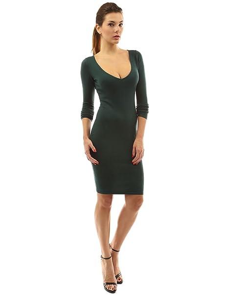 5a1c1c2dcea PattyBoutik Women s V Neck Long Sleeve Plain Sweater Dress at Amazon Women s  Clothing store