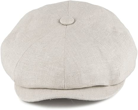 Gorra Newsboy Alfie de lino de Failsworth - Natural: Amazon.es ...