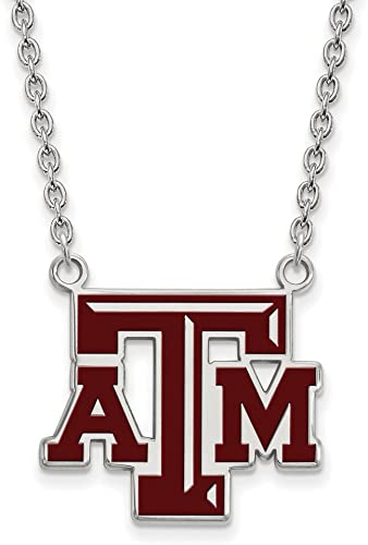 925 Sterling Silver Rhodium-plated Laser-cut Mississippi State University Heart Pendant