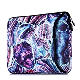 Sancyacc Drop-proof Laptop Sleeve for 13-13.5 Inch MacBook Air, Laptop Case with Pocket for MacBook Pro Retina Late 2012 - Early 2016 | 13.3'' Chromebook|Notebook|Tablet iPad(Marble Mix Blue)