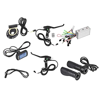 Dioche Electric Motor Controller, 24V/36V 250W/350W Brushless Motor  Controller LCD Panel Kit for E-Bike Electric Bike Scooter