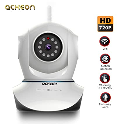 Acxeon HD 720P Wifi IP Cámara de seguridad, Red Inalámbrica IP Cámara día noche sartén