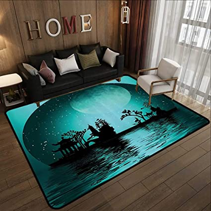 Amazon.com: Living Room Rugs,Asian Decor Collection, Asia ...