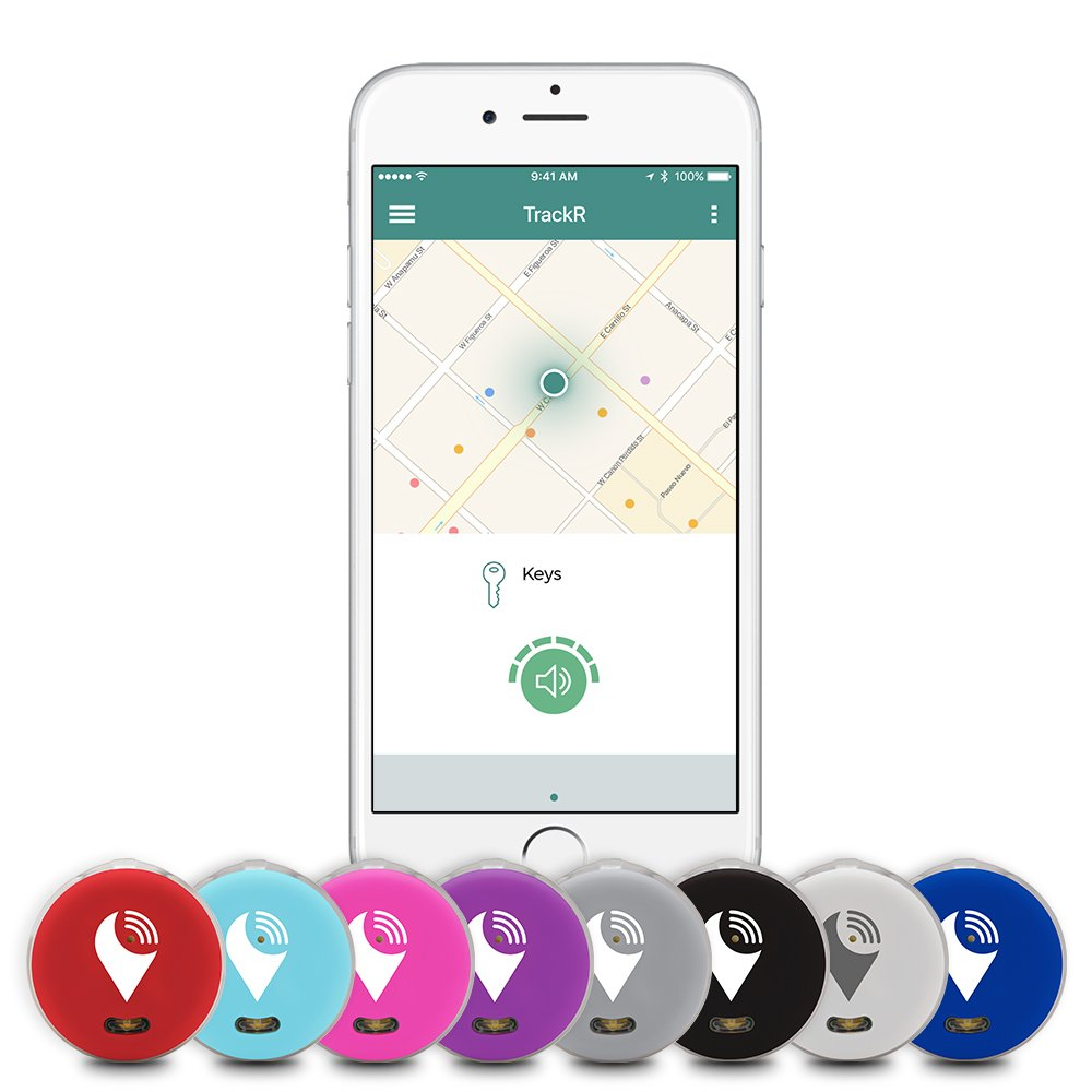 TrackR pixel - Bluetooth Tracking Device. Item Tracker. Phone Finder. iOS/Android Compatible - Multicolor (16 Pack) by TrackR