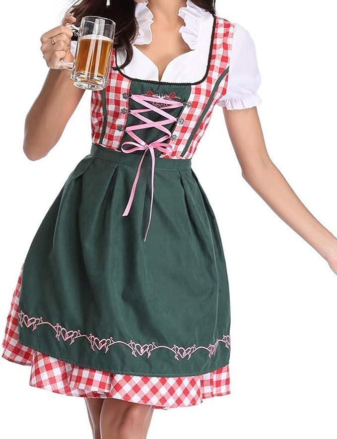 Women German Dirndl Dress Oktoberfest Beer Costume Bavarian Outfit Maid dress